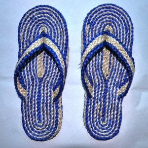 Jute made carpet sandal ,It's completely hand made by the rural women and light weight. Made of natural jute fiber.