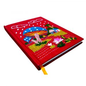 Bangger Chata Red Colour Nakshi Natebook