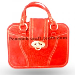 Red Leather Handbag | tedfo.com