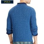 Cable-knit Cashmere Sweater- Navy-02