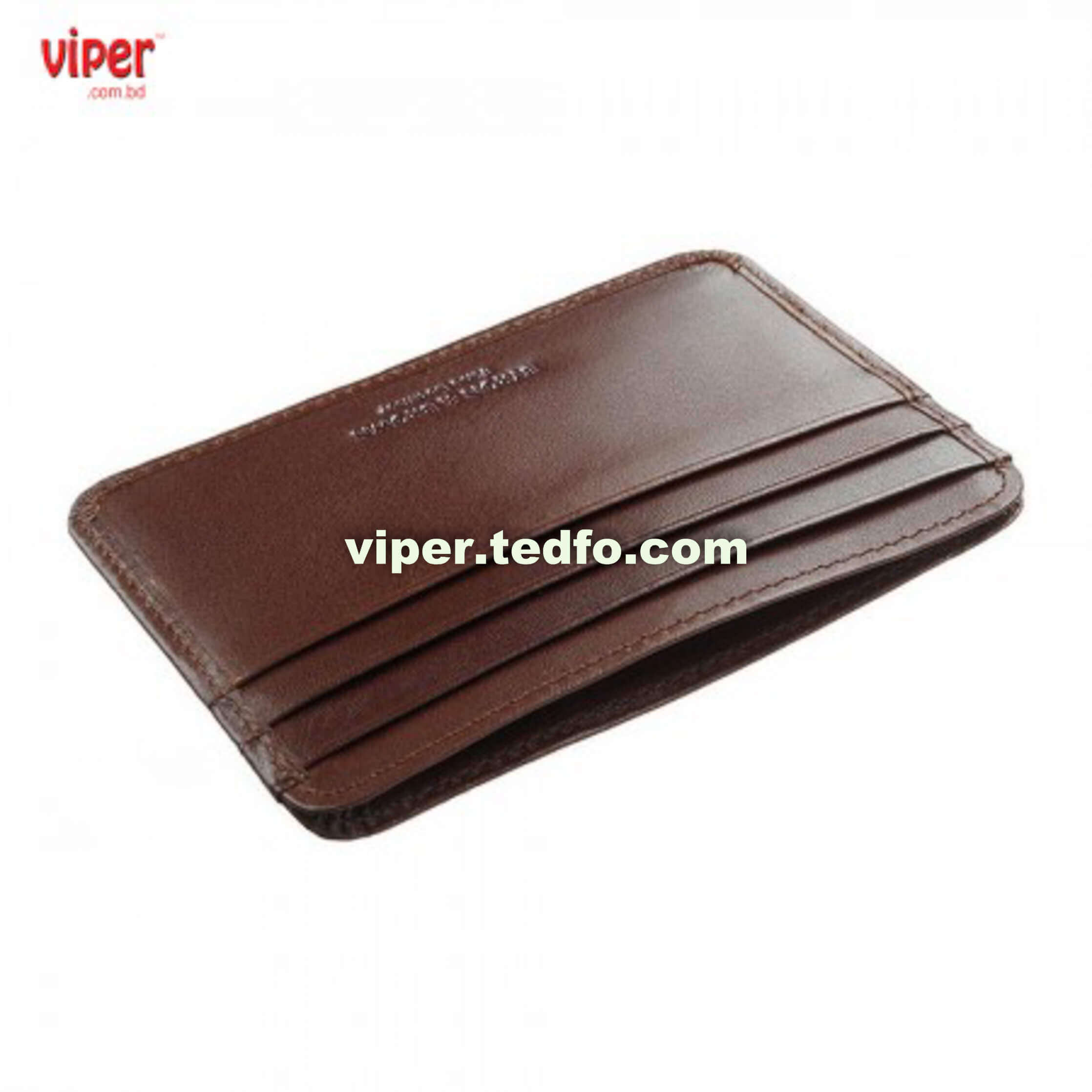 Brown CardHolder (VC 712), open style , multiple card slot,Leather Made