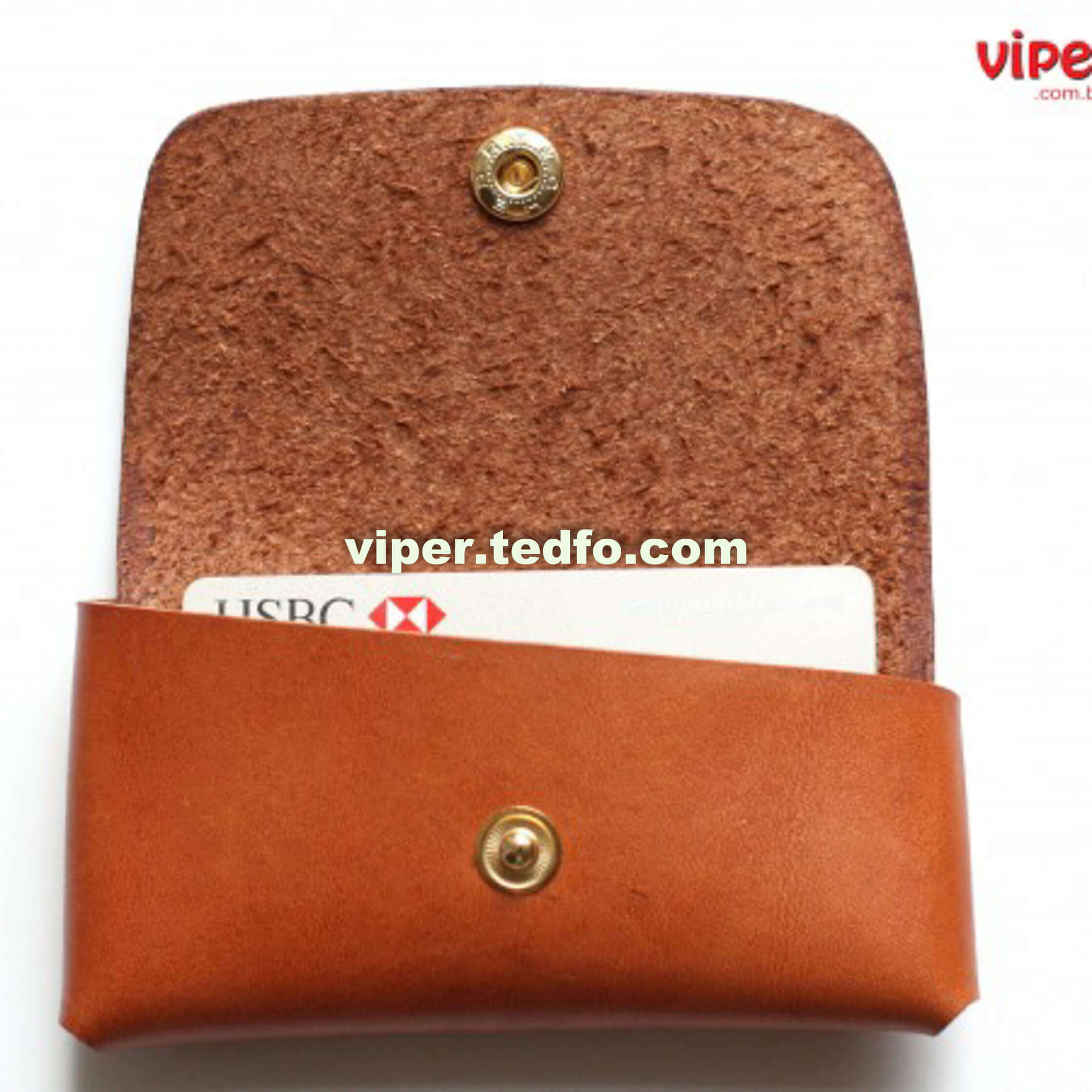 Brown Leather Card Holder (VC 713),Made in Bangladesh