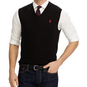 COTTON V-NECK SWEATER VEST