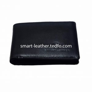 Leather Smart Black Wallet , Made In Bangladesh