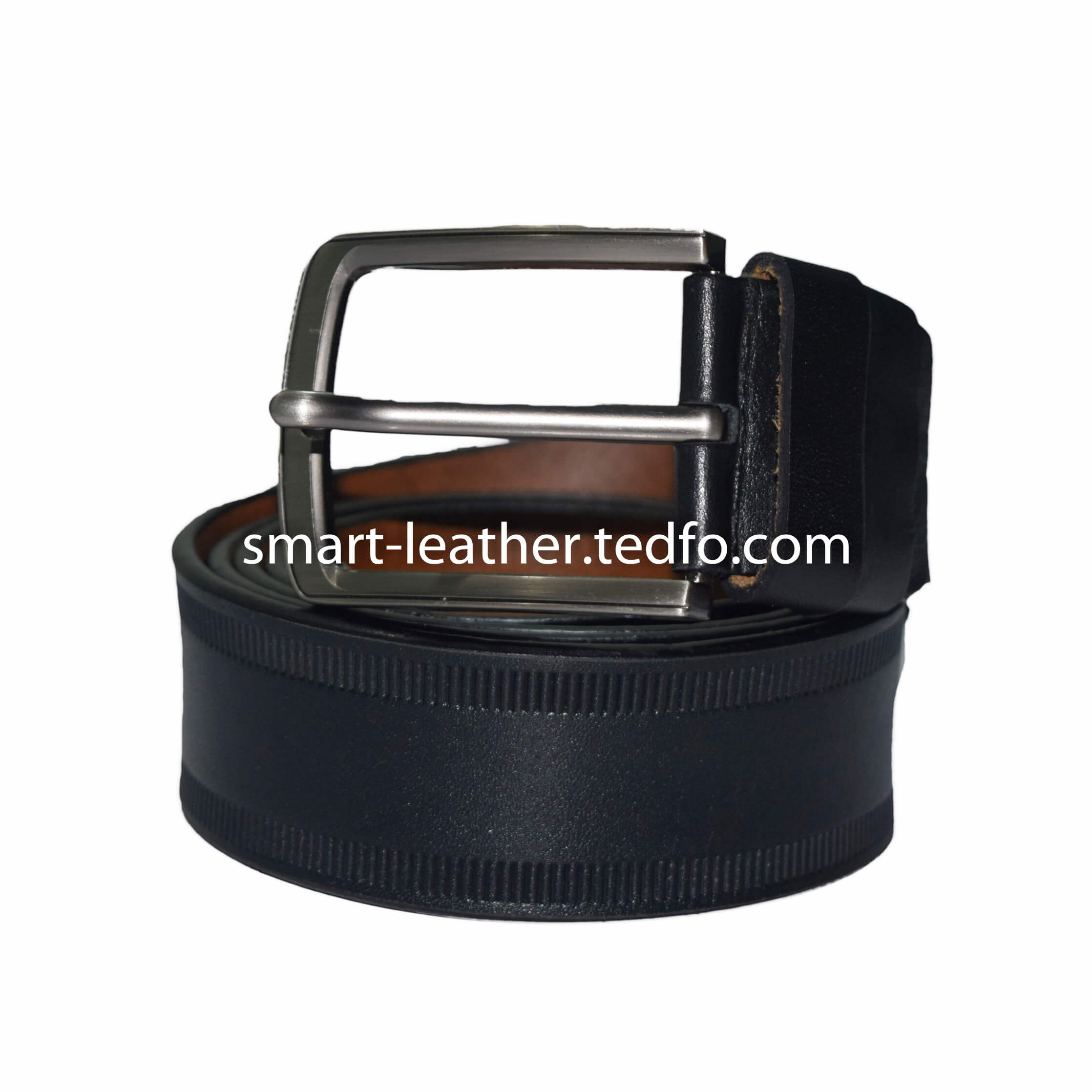 Leather Plain Belt ,Black Colored, Made In Bangladesh