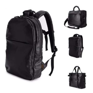 Wholesale black leather backpack from Bangladesh