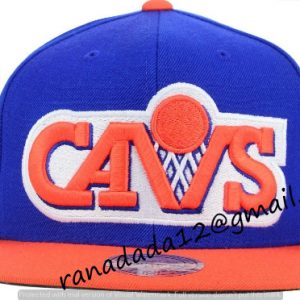 Cleveland Cavaliers Mitchell and Ness NBA XL Logo Snapback Cap