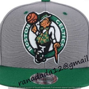 Boston Celtics Mitchell and Ness NBA Under Over Snapback Cap