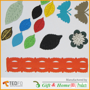Colorful Leaf Laces ,non-woven, ultra-sonic flower / Lace
