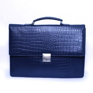Best Quality Dashing Blue Formal Leather Bag Supplier from Bangladesh