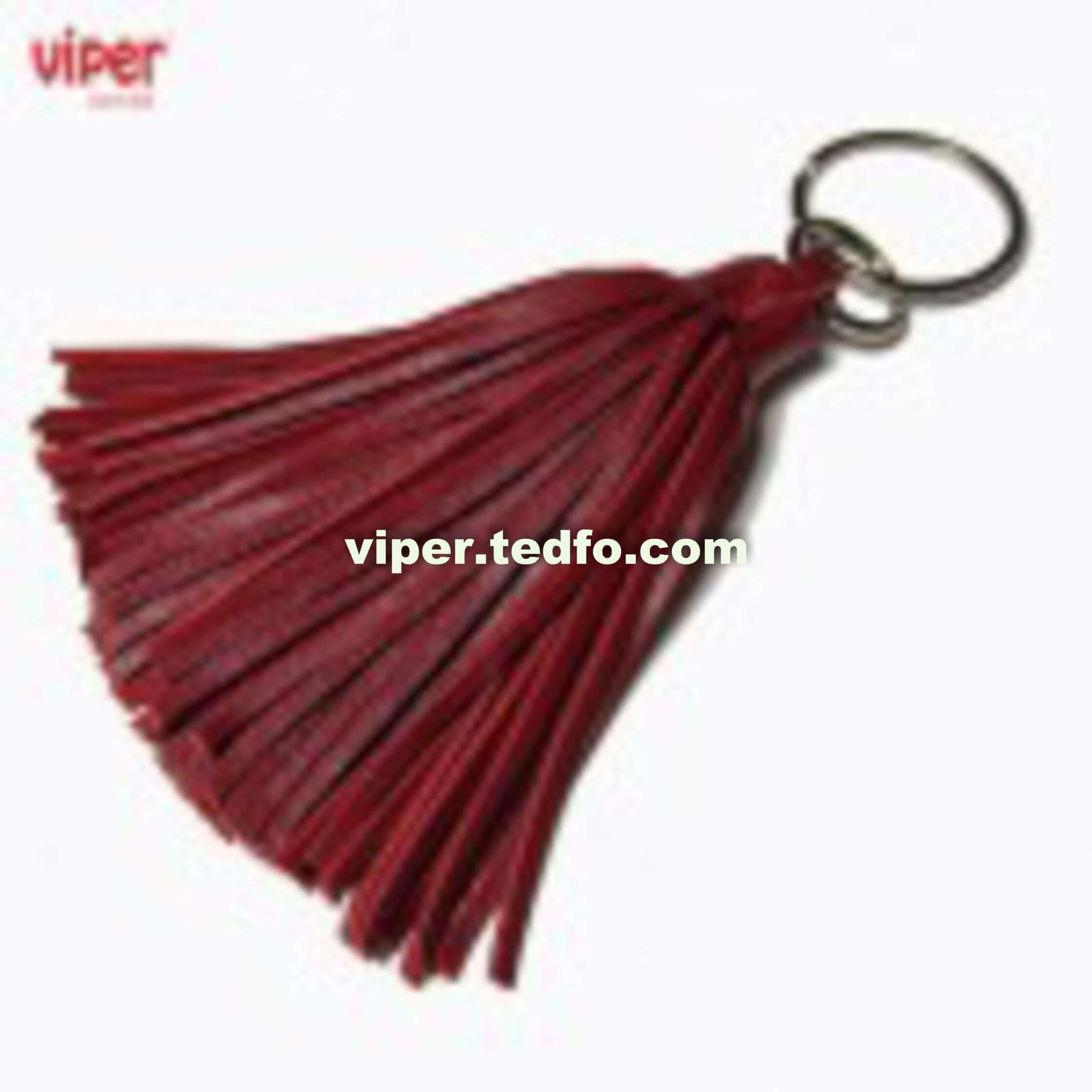 Viper Leather Key Ring (VC726),Red colored, Stylish