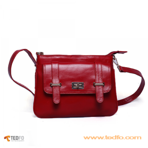Genuine Leather Red Women's handbags , Manufacturer from Bangladesh