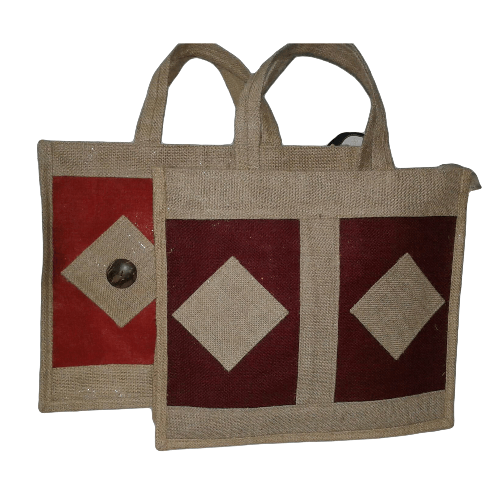 Dual Colored Jute Shopping Bag,Made In Bangladesh