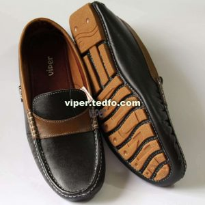 Viper Black and Brown Leather Loafer 801