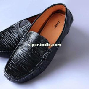 Viper Best Leather Loafer 803, Crisscrossed River Flow Style.
