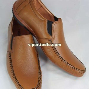 Viper Leather Light Brown Loafer 813