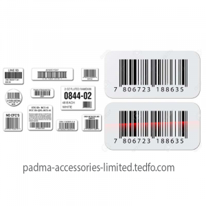 Barcode and Sticker , Manufacturer:Padma Accessories Limited Origin: Bangladesh
