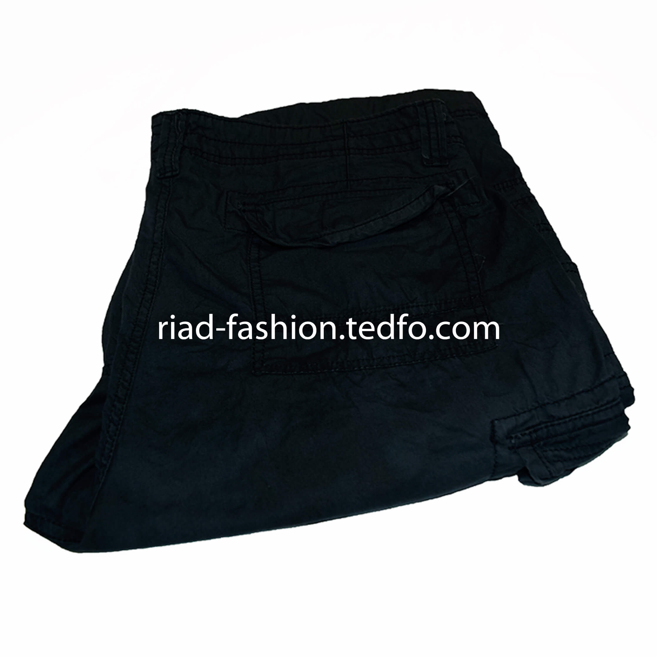 Men's Black Three-Quarter Pant from Bangladesh