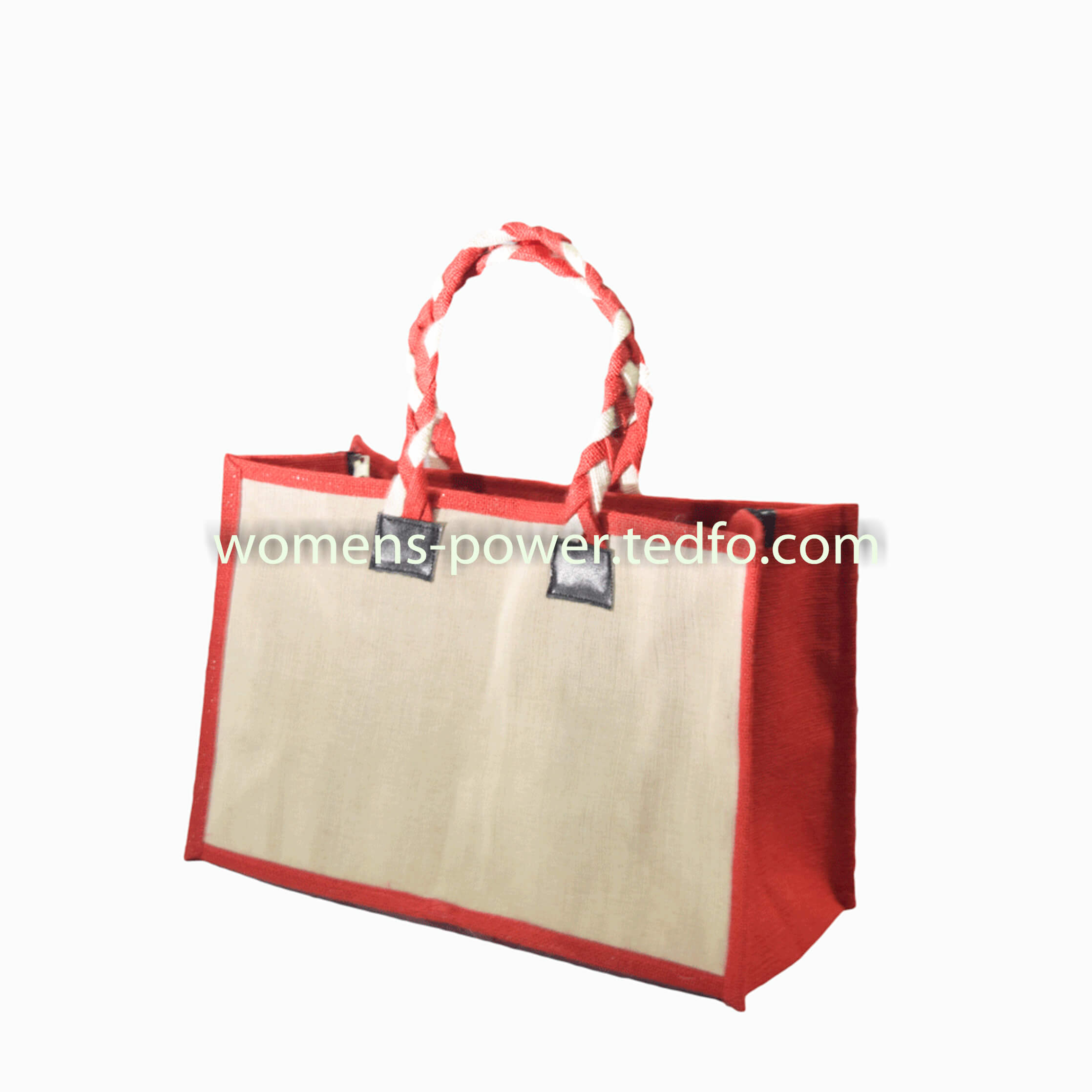 8d93a6a8e Jute Made Bangladesh Shopping Bag, Red Colored Border,Natural Jute Colored  Body,Laces
