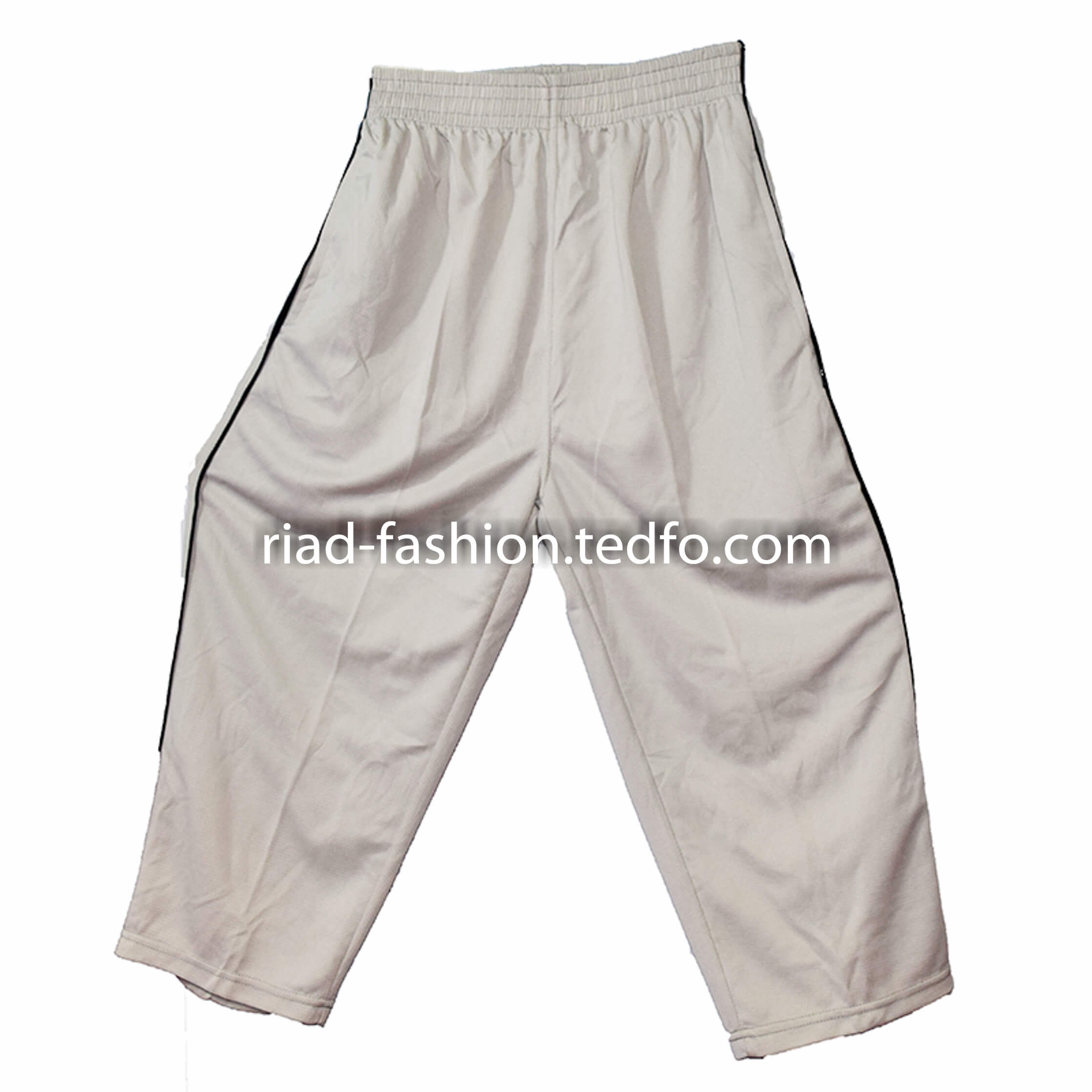 Men's White Three-Quarter Pant from Bangladesh