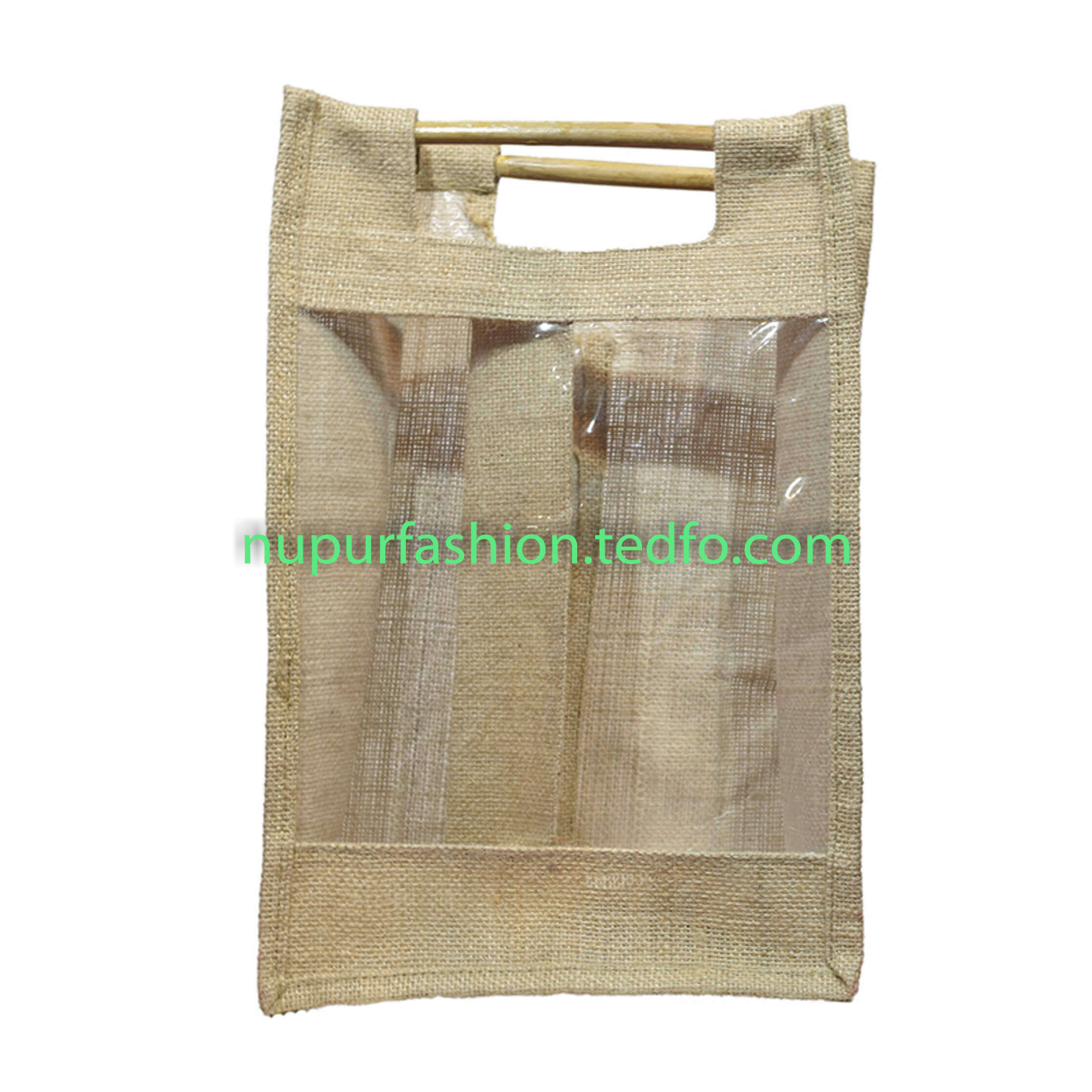 Eco-Friendly Jute Made Double Wine Bottle Bag,Made In Bangladesh