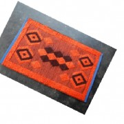 floor mat,handmade,Bangladesh carpets,floor mat,orange,Woolen Floor Mat Orange Color